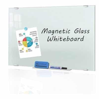 Zhidian Glass White Board with 4 Markers and Eraser