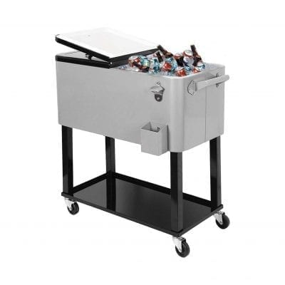 Clevr 80Qt. Outdoor Patio Party Cooler with Stand