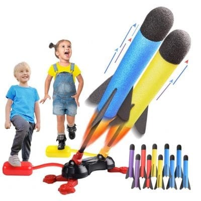 LQYoyz Kids Toys Duel Rocket Launcher 100Ft Shoot