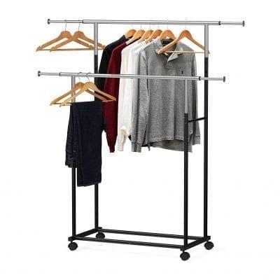 Simple Houseware Standard Double Rod Garment Rack