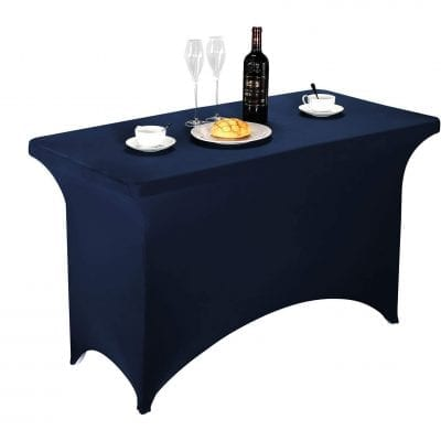FELIZEST Spandex Table Covers (4ft, Navy)