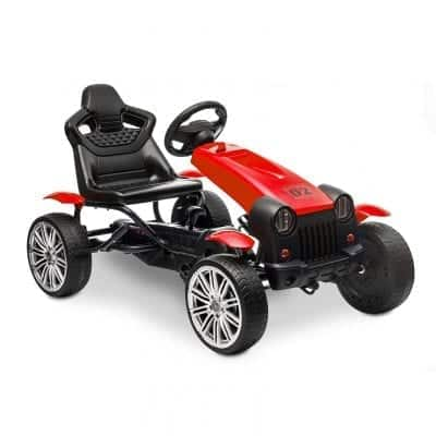 HOMFY Pedal Go Kart Racing Car Toys Adjustable Seat
