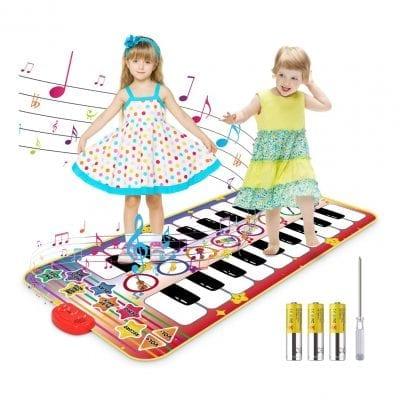 Magicfun Kids Musical Mat 55.1 x 27.6 inches Double-Keyboard 20 Keys Musical Piano Mat