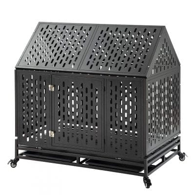 petgroomingtable Heavy-Duty Dog Crate for Large Dogs, Easy to Assemble