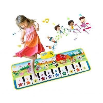 EXTSUD Musical Keyboard Playmat Piano Mat for Boys Girls