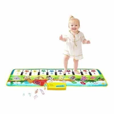 M SANMERSEN Kids 39.5 X 14 inches Piano Mat for 3-6 Years Kids