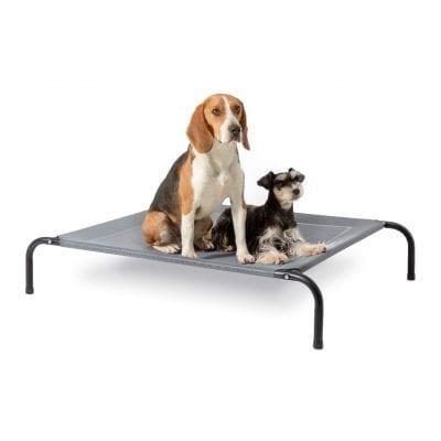 Bedsure Elevated Dog Bed, Skid-Resistant Feet (Grey)