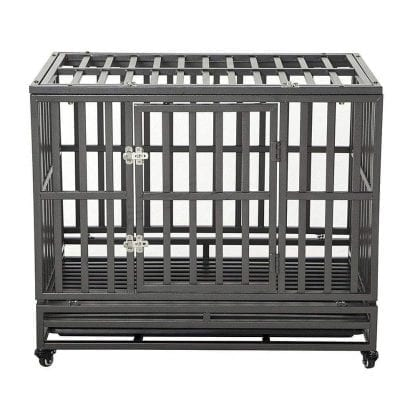 LUCKUP Heavy-Duty Dog Crate for Large Dogs