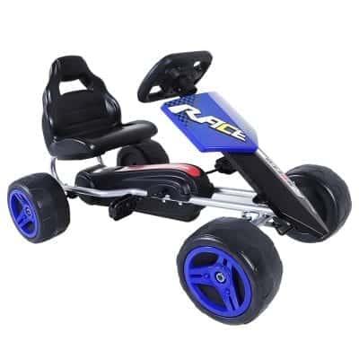 Aosom Kids Go Kart 4 Wheeled Ride On Pedal Car