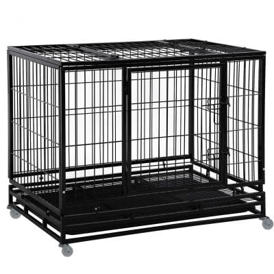 Bestpet Heavy-Duty Dog Crate for Large Dogs