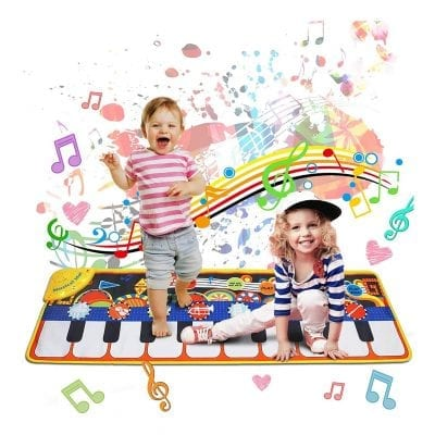 """MOZOOSON Music Mat Toy for 3-8 Years Old Kids Toddlers, 43""""X14."""""""