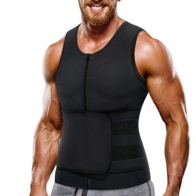 Wonderience Neoprene Sauna Waist Trainer Vest Zipper