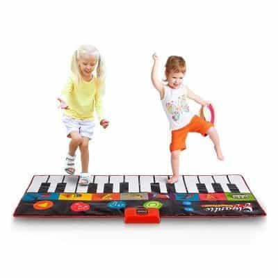 Abco Tech Giant Jumbo Floor Piano Mat with 24 Keys (Colorful)