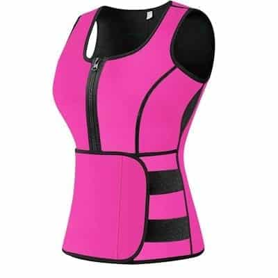 BFYTN Sweat Vest Waist Trainer for Weight loss with Adjustable Waist Trimmer Belt