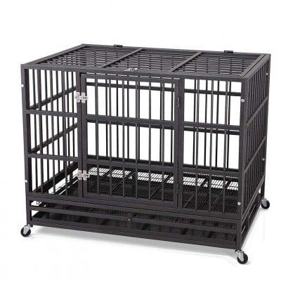 JY QAQA PET Heavy-Duty Dog Cage, 2 Prevent Escape Lock