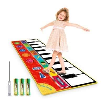 Magicfun 8 Instrument Sounds Kids Musical Mat with 3 AA Batteries