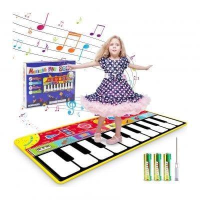 Renfox Dance and Learn Keyboard Kids Musical Piano Mats