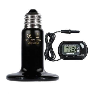 Zacro 150W Reptile Heat Lamp (Black)