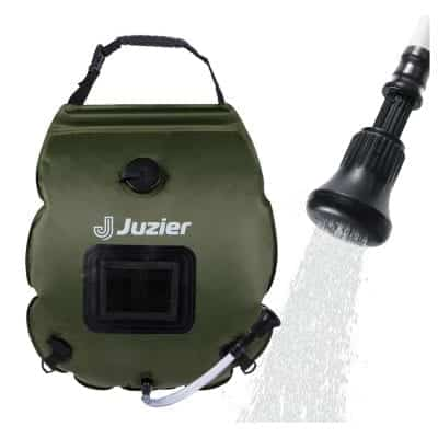 Juzier Portable Camping Solar Shower Bag