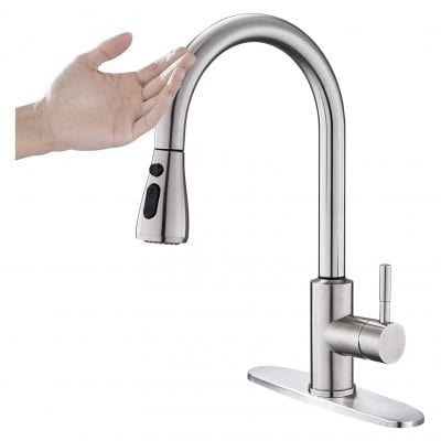 OUGOO Touch On Kitchen Faucet 304 Stainless Steel