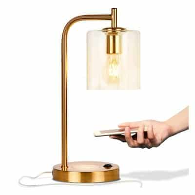 Brightech Elizabeth Office Desk Lamp with Wireless Charging Pad