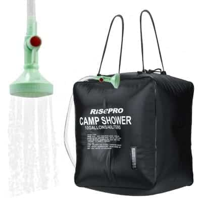RISEPRO 10 gallons Solar Heating Shower Bag