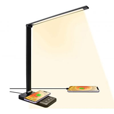 A3A ACADGQ LED Desk Lamps with Wireless Charger
