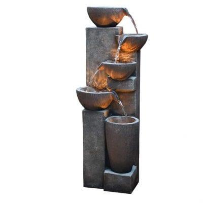 GradenFans 5 Tier Outdoor Water Fountain