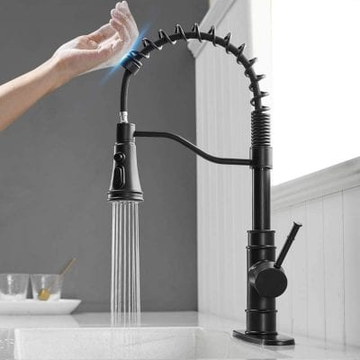 OWOFAN Touch On Faucet with Pull Down Sprayer