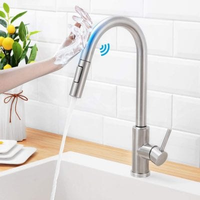 HGN Touch On Kitchen Faucet with Pull Down Sprayer