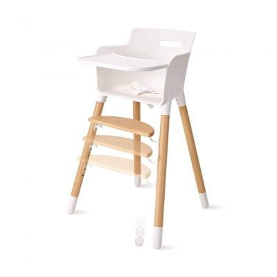 FUNNY SUPPLY Wood High Chair for Baby