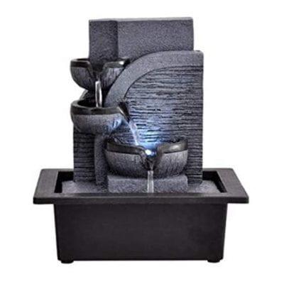 WICHEMI Tabletop Water Fountain