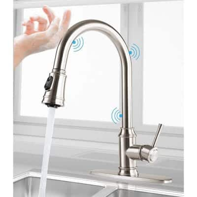 CWM Touch Kitchen Faucets with Pull Down Sprayer 2 Water Modes