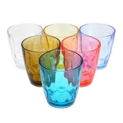 Lawei 14 oz Plastic Drinking Glasses