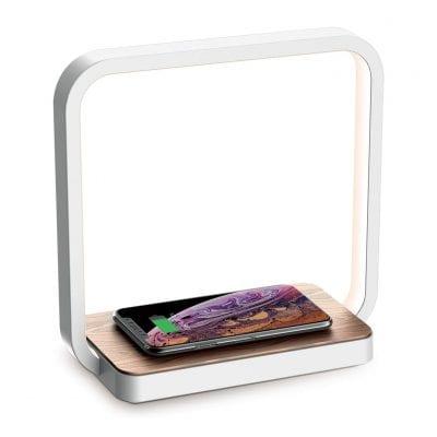 blonbar Bedside Lamp Qi Wireless Charger LED Desk Lamp