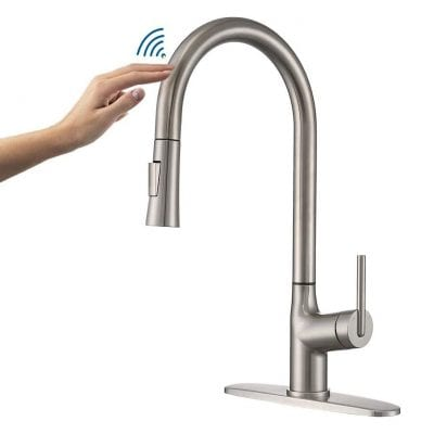 ARRISEA Touch Kitchen Faucet Single Handle Brass Pull Down Sprayer