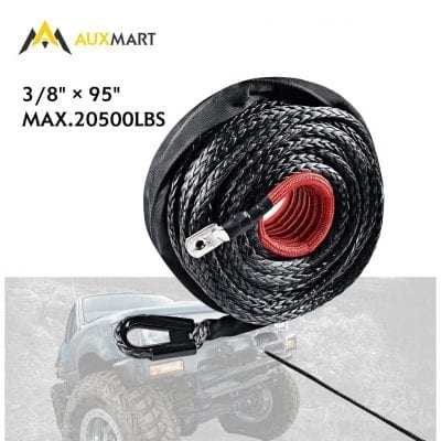 AUXMART Synthetic Winch Rope Winch Line Cable