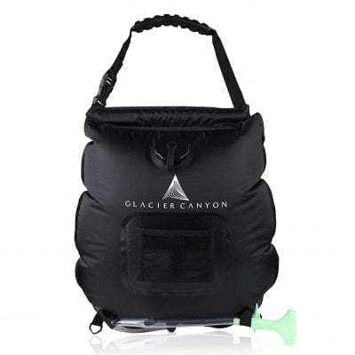 Glacier Canyon Solar Camping Shower Bag