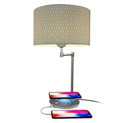 Macally Wireless Charging Lamp with USB Port