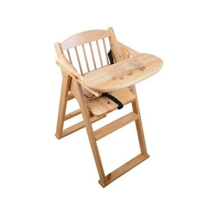 ZXQZ Wood High Chair for Baby