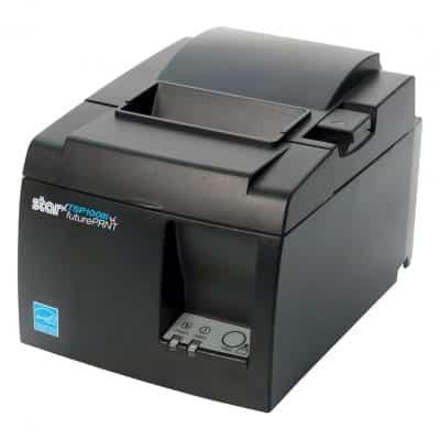 Star Micronics Gray Receipt Printer with Auto Cutter TSP143IIILAN