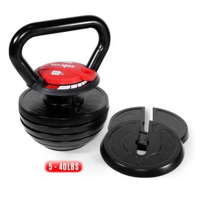 Yes4All Cast Iron Adjustable Kettlebell 5 to 30lbs