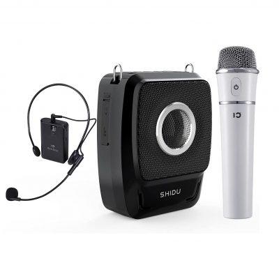 SHIDU Voice Amplifier with 2 Microphones
