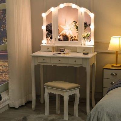 Tiptiper Vanity Set with Lighted Mirror