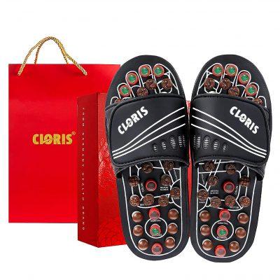 CLORIS Massage Slippers with Jade Stones