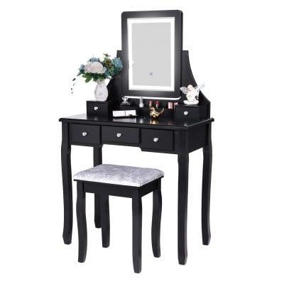 BEWISHOME Vanity Set with Lighted Mirror