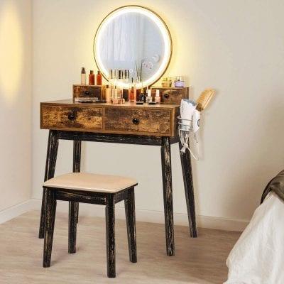 Eshop Makeup Vanity Desk with Drawers