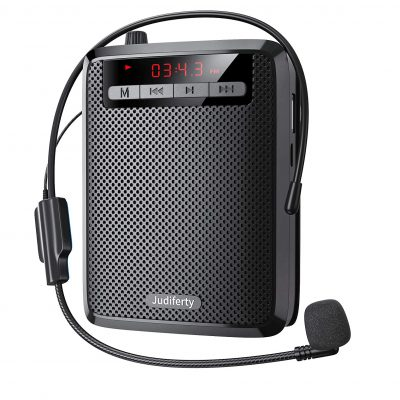 Judiferty Portable Audio System with Wired Microphone