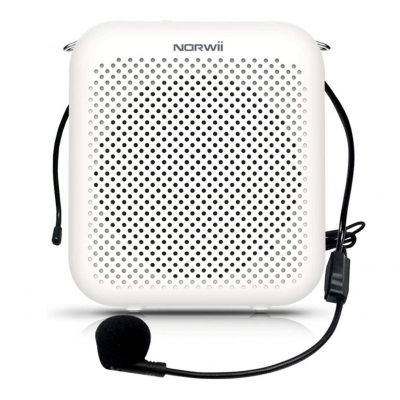 KNORVAY Portable 2000mAH Voice Amplifier with a Wired Microphone Headset