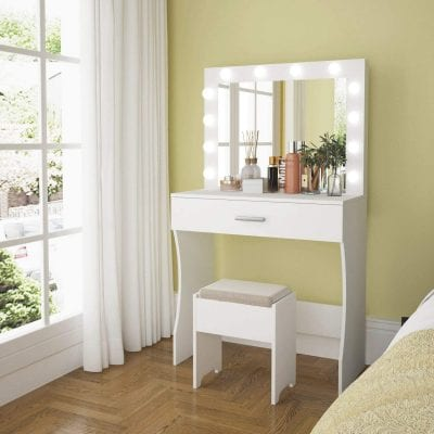 Titoni Vanity Table Set with Lighted Mirror